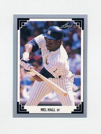1991 Leaf Baseball #283 Mel Hall - New York Yankees