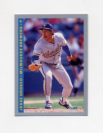 1993 Fleer Baseball #632 Jesse Orosco - Milwaukee Brewers