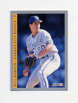 1993 Fleer Baseball #624 Bill Sampen - Kansas City Royals