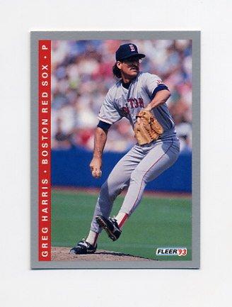 1993 Fleer Baseball #560 Greg A. Harris - Boston Red Sox