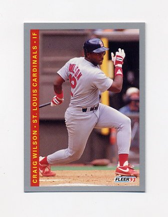 1993 Fleer Baseball #516 Craig Wilson - St. Louis Cardinals