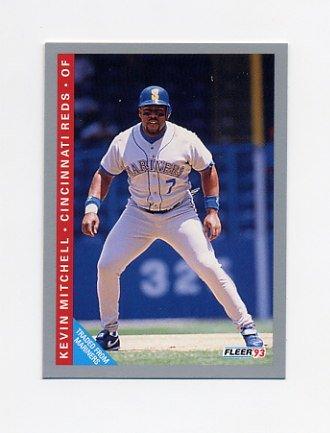 1993 Fleer Baseball #396 Kevin Mitchell - Cincinnati Reds