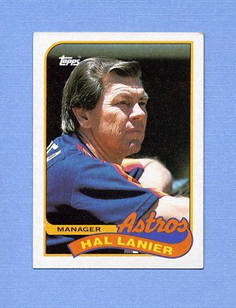 1989 Topps Baseball #164 Houston Astros Team Checklist / Hal Lanier MG