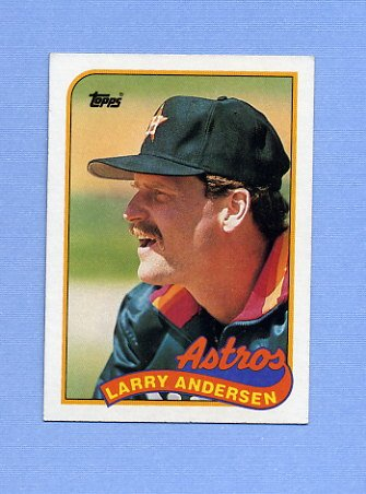 1989 Topps Baseball #024 Larry Andersen - Houston Astros ExMt