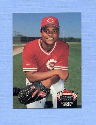1992 Stadium Club Baseball #892 Dwayne Henry - Cincinnati Reds