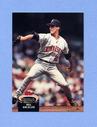 1992 Stadium Club Baseball #861 Bill Krueger - Minnesota Twins