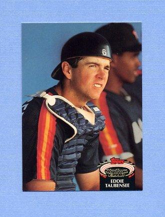 1992 Stadium Club Baseball #790 Eddie Taubensee RC - Houston Astros