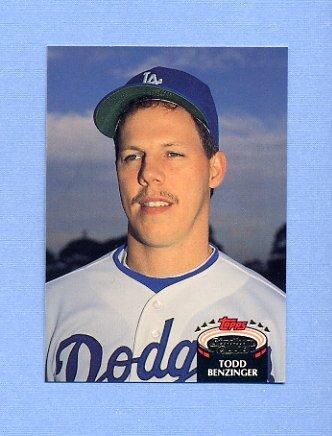 1992 Stadium Club Baseball #764 Todd Benzinger - Los Angeles Dodgers