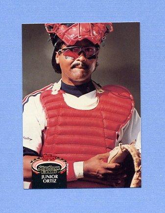 1992 Stadium Club Baseball #727 Junior Ortiz - Cleveland Indians