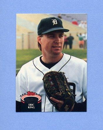 1992 Stadium Club Baseball #638 Eric King - Detroit Tigers