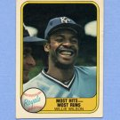 1981 Fleer Baseball #653B Willie Wilson - Kansas City Royals