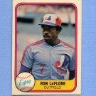 1981 Fleer Baseball #154 Ron LeFlore - Montreal Expos