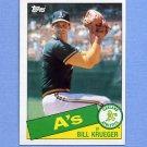 1985 Topps Baseball #528 Bill Krueger - Oakland A's
