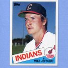 1985 Topps Baseball #303 Mike Jeffcoat - Cleveland Indians