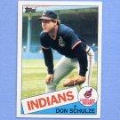 1985 Topps Baseball #093 Don Schulze - Cleveland Indians