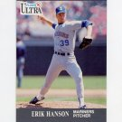 1991 Ultra Baseball #337 Erik Hanson - Seattle Mariners