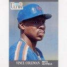 1991 Ultra Baseball #212 Vince Coleman - New York Mets