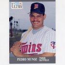 1991 Ultra Baseball #192 Pedro Munoz RC - Minnesota Twins