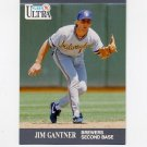 1991 Ultra Baseball #174 Jim Gantner - Milwaukee Brewers