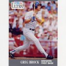 1991 Ultra Baseball #172 Greg Brock - Milwaukee Brewers
