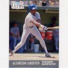 1991 Ultra Baseball #161 Alfredo Griffin - Los Angeles Dodgers