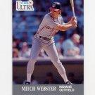 1991 Ultra Baseball #119 Mitch Webster UER - Cleveland Indians