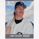 1991 Ultra Baseball #083 Cory Snyder - Chicago White Sox