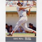 1991 Ultra Baseball #037 Tony Pena - Boston Red Sox