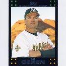 2007 Topps Baseball #614 Bob Geren MG - Oakland A's