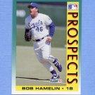 1992 Fleer Baseball #672 Bob Hamelin - Kansas City Royals