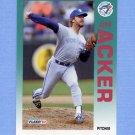 1992 Fleer Baseball #322 Jim Acker - Toronto Blue Jays