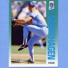 1992 Fleer Baseball #167 Bret Saberhagen - Kansas City Royals