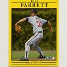 1991 Fleer Baseball #699 Jeff Parrett - Atlanta Braves