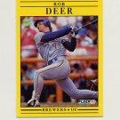 1991 Fleer Baseball #580 Rob Deer - Milwaukee Brewers