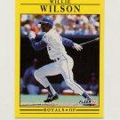 1991 Fleer Baseball #575 Willie Wilson - Kansas City Royals