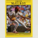 1991 Fleer Baseball #406 Chuck McElroy - Philadelphia Phillies