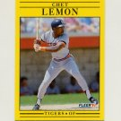1991 Fleer Baseball #341 Chet Lemon - Detroit Tigers