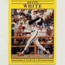 1991 Fleer Baseball #328 Devon White - California Angels
