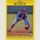 1991 Fleer Baseball #289 Jeff Huson - Texas Rangers