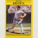 1991 Fleer Baseball #282 Kevin Brown - Texas Rangers