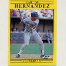 1991 Fleer Baseball #207 Carlos Hernandez - Los Angeles Dodgers