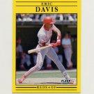 1991 Fleer Baseball #061 Eric Davis - Cincinnati Reds