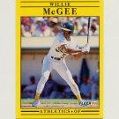 1991 Fleer Baseball #016 Willie McGee - Oakland A's