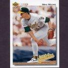1992 Upper Deck Baseball #661 Mike Moore - Oakland A's