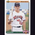 1992 Upper Deck Baseball #066 Mark Smith RC - Baltimore Orioles
