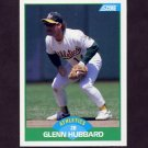 1989 Score Baseball #034 Glenn Hubbard - Oakland A's NM-M