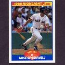 1989 Score Baseball #659 Mike Greenwell HL - Boston Red Sox