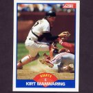 1989 Score Baseball #619 Kirt Manwaring - San Francisco Giants