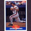 1989 Score Baseball #600 Gregg Jefferies - New York Mets