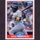 1989 Score Baseball #533 Dave Henderson - Oakland A's
